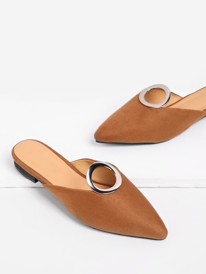 Ring Front Pointed Toe Flats