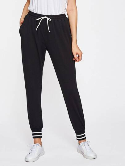 Striped Hem Sweatpants