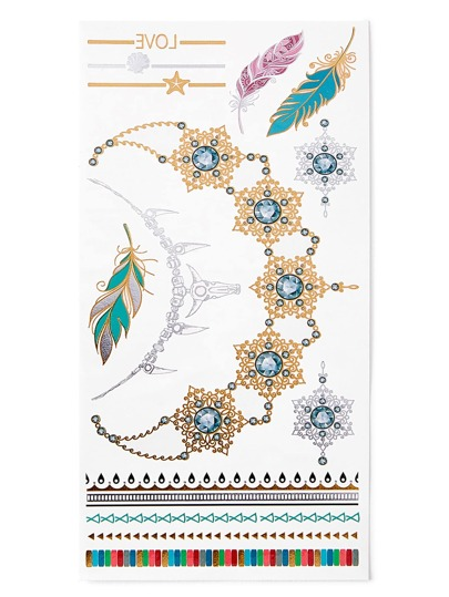 Feather & Bracelet Tattoo Sticker