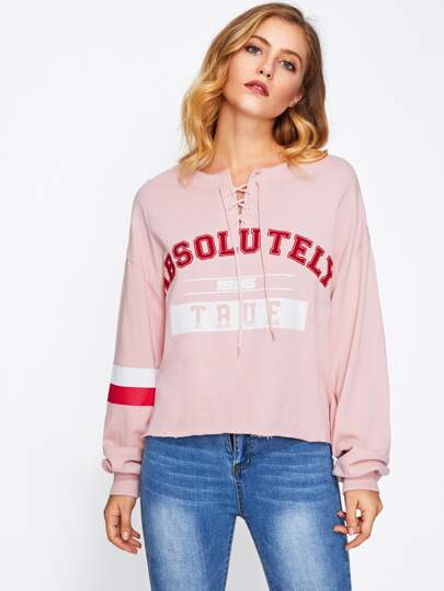 Pull-over avec lacet