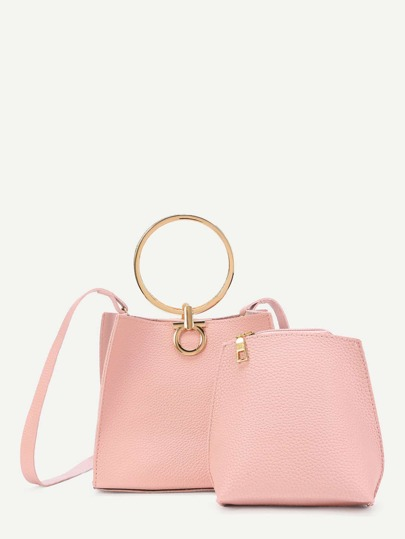 PU Shoulder Bag With Inner Pouch