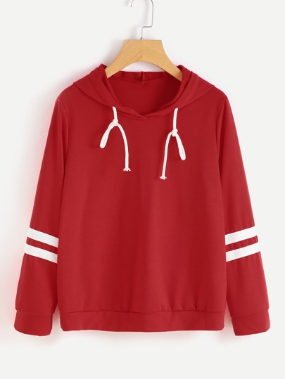 Varsity Striped Hooded Sweatshirt
