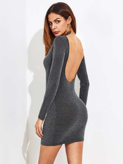 Sparkle Backless Bodycon Dress