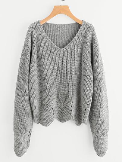 Pullover mit Öse und Muschel