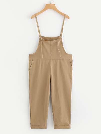 Spaghetti Strap Overall Pants
