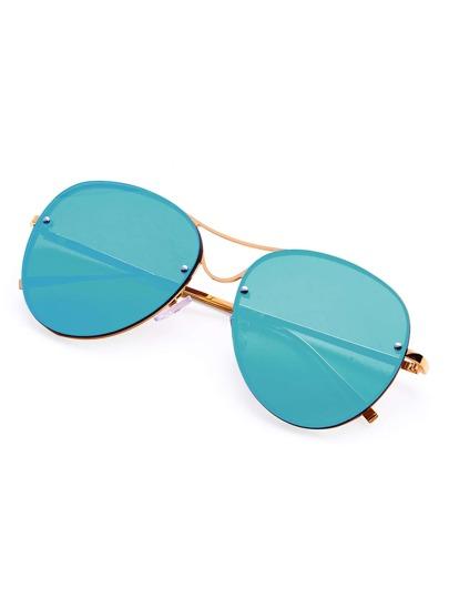 Gafas de sol estilo aviador con puente doble con montura al aire