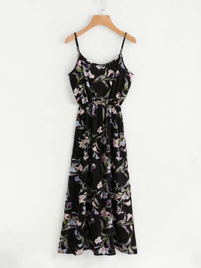 All Over Botanical Print Cami Dress