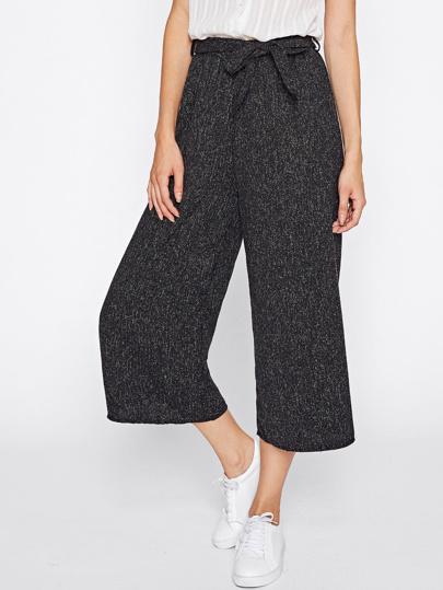 Pantalons avec jambe gros avec lacet de taille