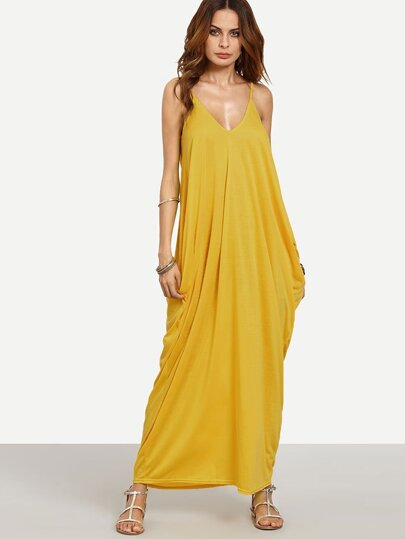 V-neckline Cocoon Cami Dress