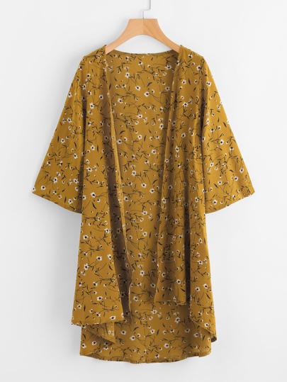 Kimono con stampa di calicò