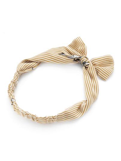 Bandeau à rayures avec nœud papillon