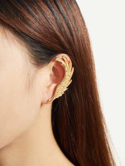 1 pieza de accesorio de oreja con diseño de pluma