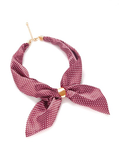 Polka Dot Print Neckerchief