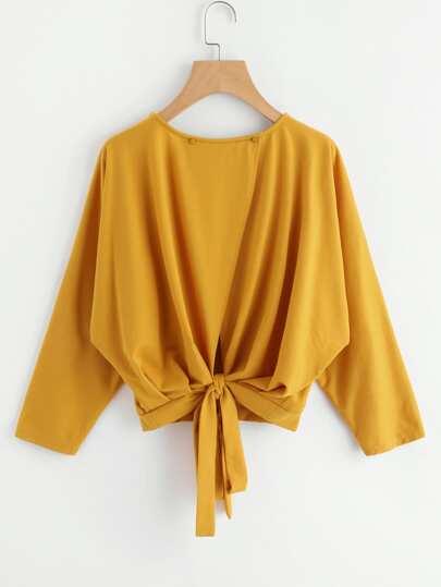 Sweat-shirt avec nœud au dos