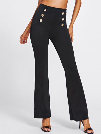 Double Breasted High Waist Pants