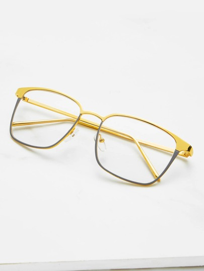 Skinny Frame Square Glasses