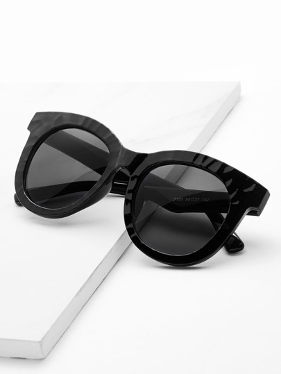 Gafas de sol con lente plano