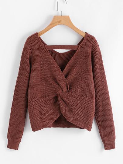 Suéter corto de esoalda girante