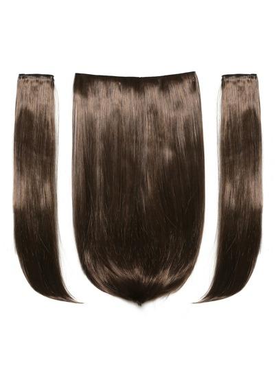 3 piezas de trama de pelo recto moreno caliente