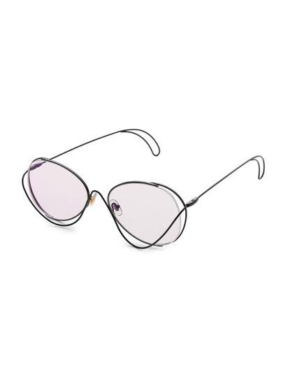 Asymmetrical Frame Oval Lens Glasses