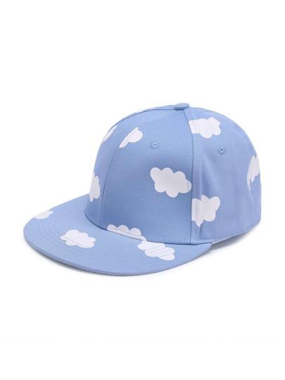 Gorra de béisbol con estampado de nube