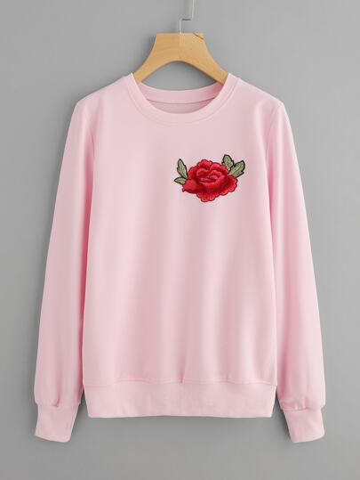 Embroidered Applique Sweatshirt