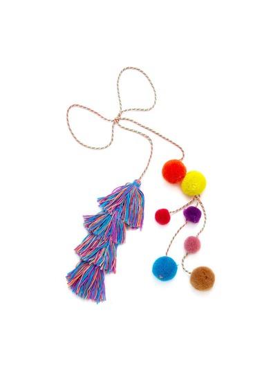 Pom Pom & Tassel Wrap Keychain