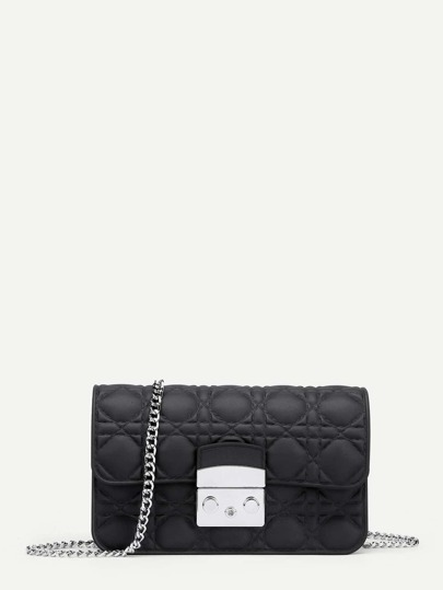 Stitch Detail Chain Crossbody Bag