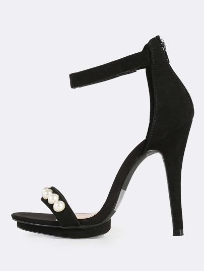 Pearl Band Heels BLACK