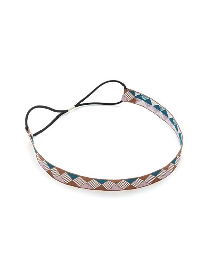Color Block Geometric Headband