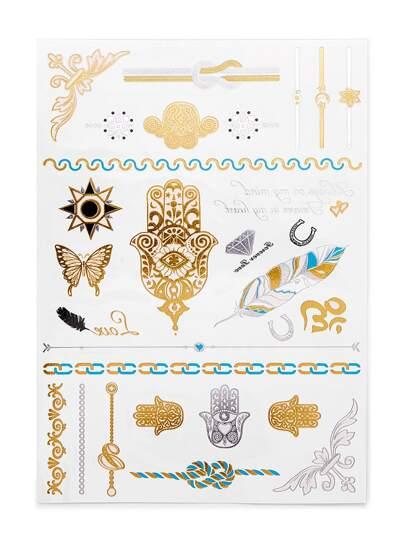 Pegatinas de tatuaje en diversas formas