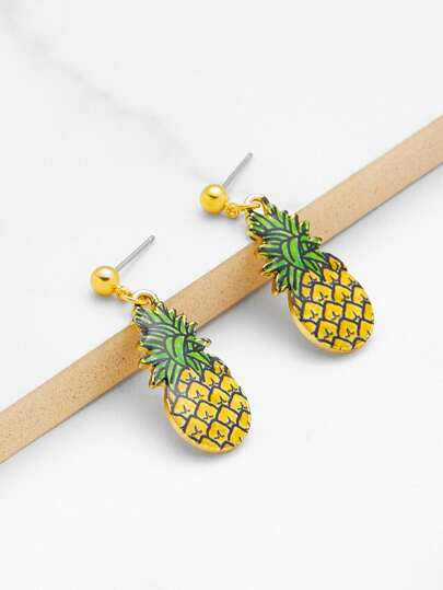 Pineapple Design Cute Dangle Earrings