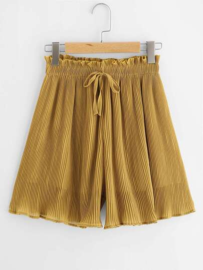 Frill Waist Pleated Shorts