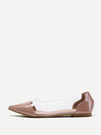 Clear Detail Pointed Toe Flats