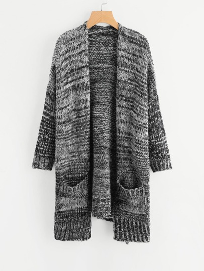 Marled Knit Sweater Coat