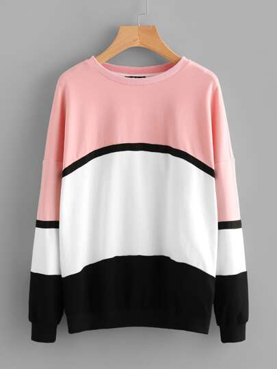 Drop Shoulder Cut And Sew Sweatshirt