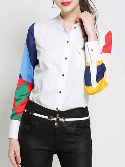 قميص اكمام لون
