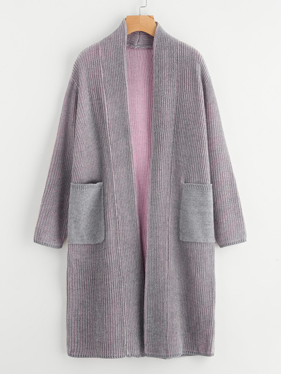 Contrast Inside Sweater Coat