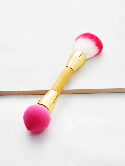 Double Head Makeup Brush & Puff