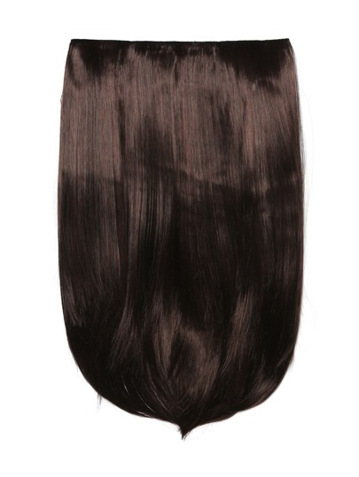 Black Cherry Clip In Straight Hair Extension