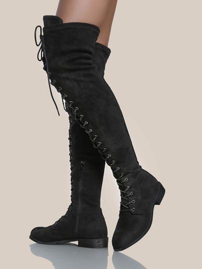 OTK Lace Up Boots BLACK