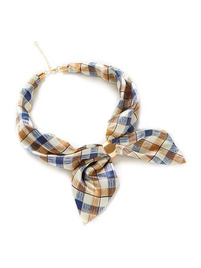 Gingham Print Linked Neckerchief