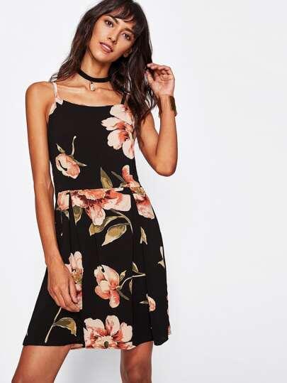 Vestido con estampado de flor
