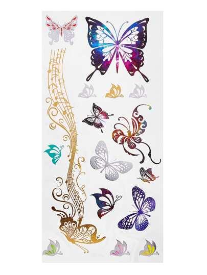 Autocollant délicat de tatouage papillon
