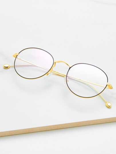 Metal Frame Clear Lens Glasses