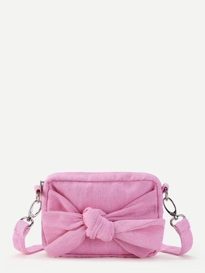 Bow Shoulder Bag With Detachable Strap