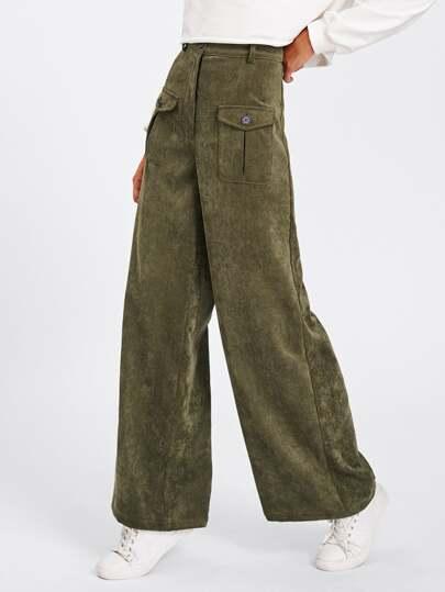Модные брюки с карманами