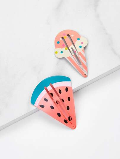 Cartoon Shaped Hair Clip 2pcs