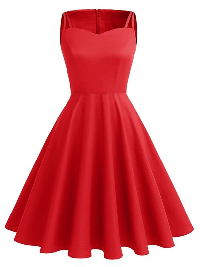 Cut Out Detail Swing Dress