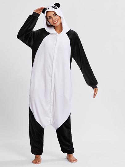 Panda Pj Jumpsuit mit Drop Gabelung
